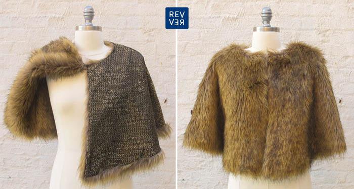 reversibility faux fur cape